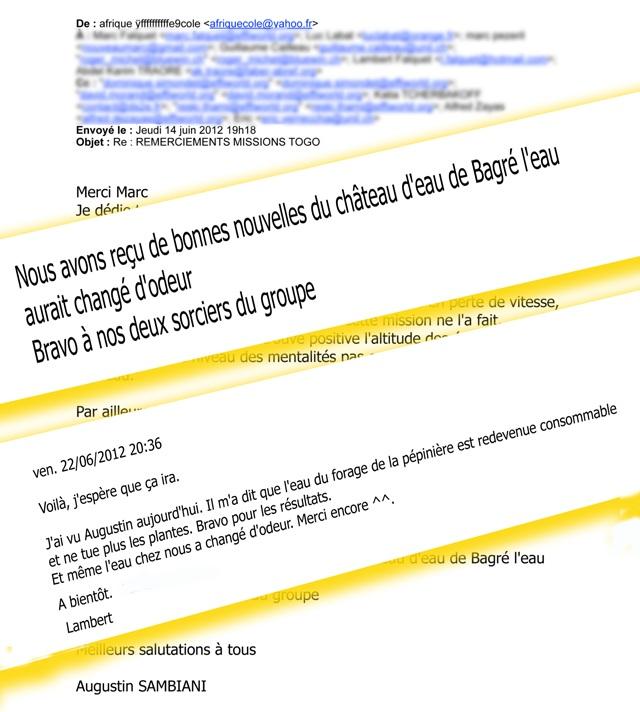 Intervention humanitaire sur trois sites au Togo
